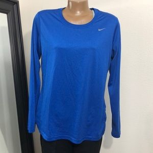 Nike  Legend Long-Sleeve Poly Tee Royal Blue Large